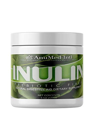 AnuMed Inulin 6 oz, a polysaccharide, is a Soluble Fiber is indigestible by The Body and Beneficial to Good Bacteria The Gut.