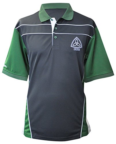 Croker Ireland Grey Performance Shirt (Bold Jersey Stripe Polo)