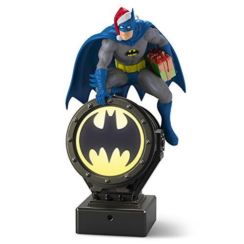 Hallmark Keepsake Christmas Ornament 2018 Year Dated, DC Comics Batman Peekbuster With Motion-Activated Sound]()
