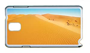 Cute Samsung Note 3 cover rugged Desert landscape dunes yellow sand blue sky PC White for Samsung Note 3/Samsung N9000
