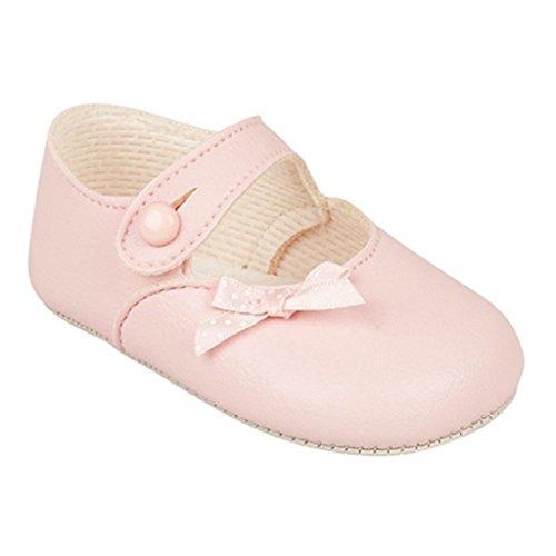 Baby kinderwagen Schuhe für eine Hochzeit, Taufe oder Partei - Tupfenbogen Rosa