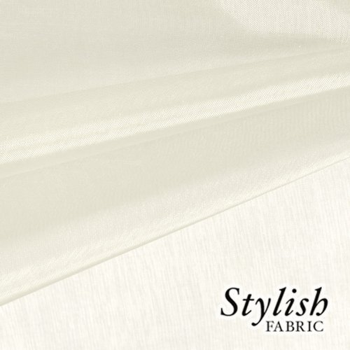 59' Ivory Organza Fabric by the Bolt - 10 Yards