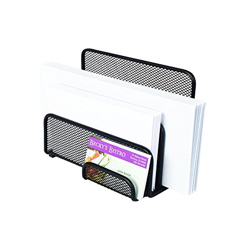 Staples Wire Mesh Letter Holder/Sorter, Black, 5 1/5