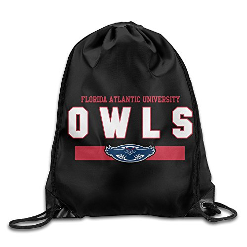 NCAA FAU Owls Navy Frame Football Logo Drawstring Backpack Bag White