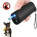 MEIREN Handheld Dog Repellent & Trainer, Anti Barking Device with LED Flashlight, Ultrasonic Dog Deterrent and Bark Stopper + Dog Trainer Device