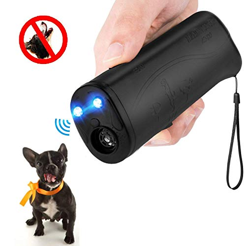 MEIREN Improved Handheld Dog Repellent & Trainer, 3 in 1 Ultrasonic Dog Repellent & Anti Barking Device (25 Hertz)