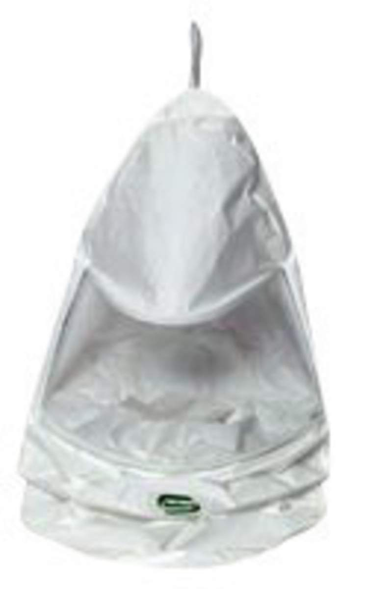 Bullard White/Clear Tychem QC Tychem QC Bib Hood by BULLARD (Image #1)