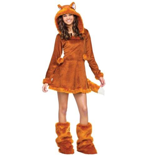 Fox Costumes Adult (Fun World Sweet Fox Teen Costume, Tan, One Size)