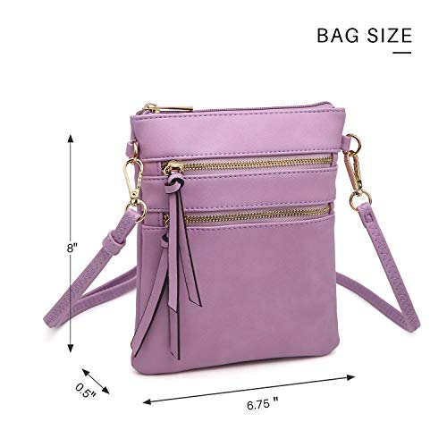 Multi Messenger Lightweight Bag Functional Orange Zipper Bag Crossbody Pockets Mini 1n8wPd0q1