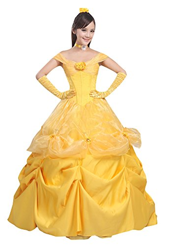 [Ace Halloween Adult Women's Beauty and the Beast Belle Costumes (M)] (Belle Halloween Costumes For Women)