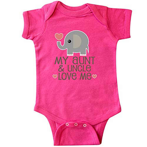 inktastic - Aunt and Uncle Love Me Nephew Infant Creeper 6 Months Hot Pink 33977