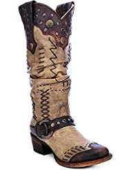 CORRAL Womens Studded Slouch Cowgirl Boot Round Toe - A3141