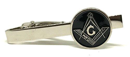 PinMaze Masonic Freemason Square Compass Tie Clip - Trowel TieBar Set (Tie Bar)