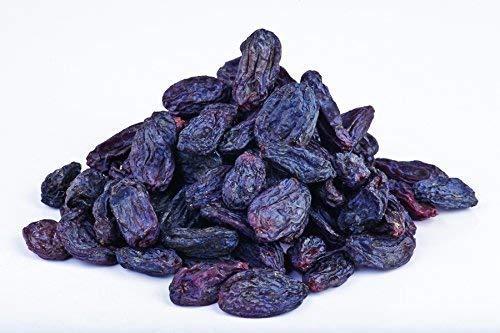 Bio schwarze Buchara Rosinen 1 kg FAIRTRADE schattengetrocknet, Bukhara, Rohkost, ungeölt und ungesüßt, aus Usbekistan 1000g