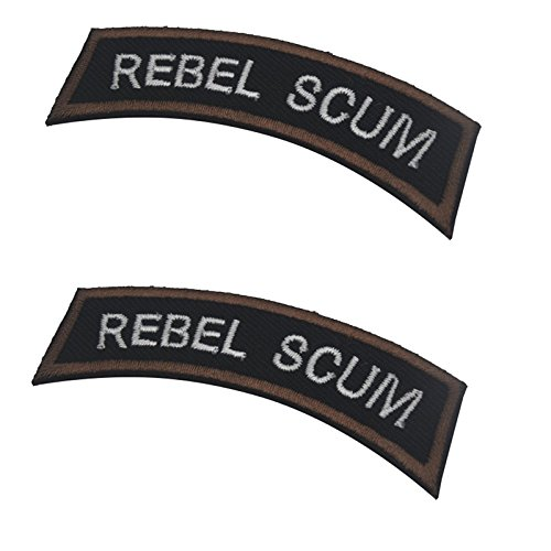 (Rebel SCUM Tactical Morale Military Embroidery Badge Hook and Loop Fastener Patch 2.76