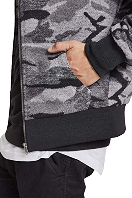 Urban Classics Camo Zip kurtka męska - polar m: Urban Classics: Odzież