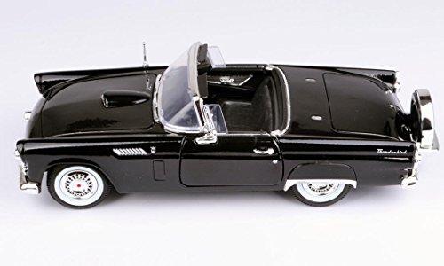 Black Thunderbird Model - Motormax Wholesale 1956 Ford Thunderbird Black Timeless Classics 1/18 Diecast Model Car