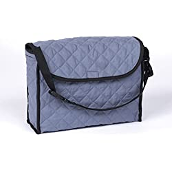 """Ableware 703300001 Gray Cotton Mobility Tote Bag, 11"""" Length, 14-1/2"""" Width, 5"""" height"""