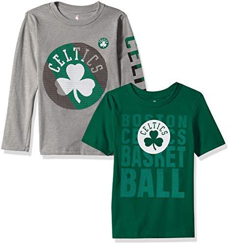 A Kids & Youth Boys Boston Celtics Short Sleeve & Long Sleeve Combo Pack, Kelly Green, Kids Medium(5-6) ()