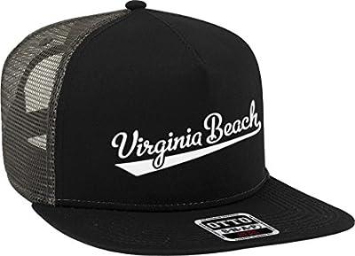 NOFO Clothing Co Virginia Beach Script Baseball Font Snapback Trucker Hat