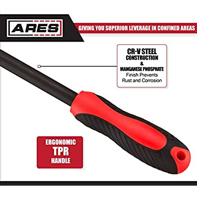 ARES 70187-16-Inch Indexable Pry Bar - 11-Position Adjustable Angle Pry Bar - High Strength Chrome Vanadium Steel: Home Improvement
