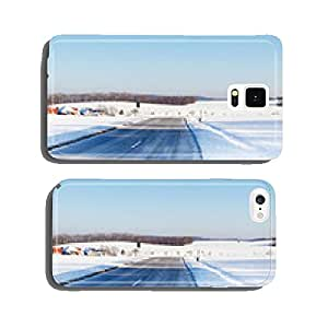 Snowy road in the Swabian Alb cell phone cover case iPhone6