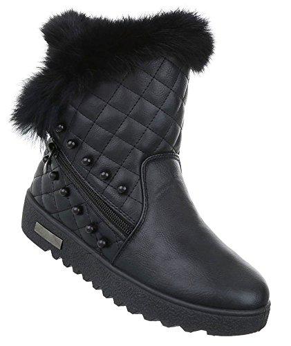 Damen Winter Stiefeletten   Winterstiefel gefüttert   Dick gefütterte  Schneestiefel   Kunst Fell Winter Boots   0d21b54650
