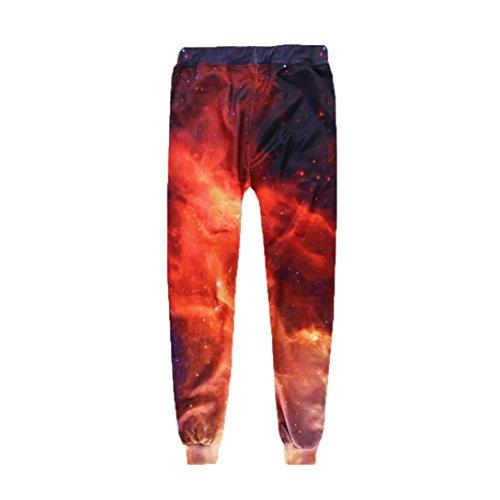 Pantalons Piedse Chic Grande Mode Taille Élasticité S Lâche Slim Impression 2xl Pantalons Casual 3d Petits Adeshop À Sportwear Rouge Hommes Z5xZv