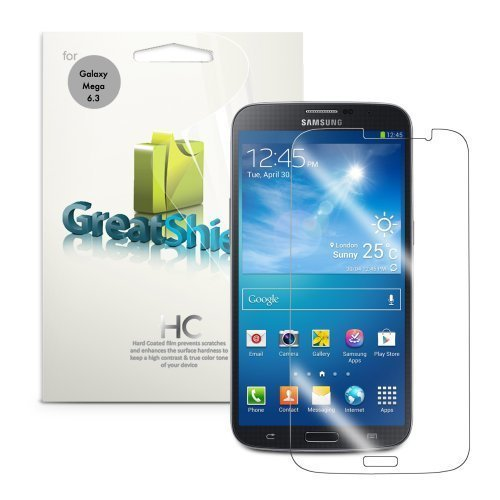 GreatShield Ultra Smooth (HD) Crystal Clear Screen Protector Film for Samsung Galaxy Mega 6.3 / GT-I9200 (3 Pack)