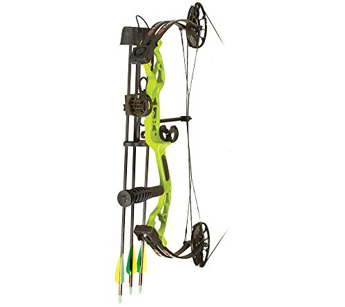 PSE Mini-Burner Lime Green 25in 29lb Ready-To-Shoot Youth Compound Bow Package