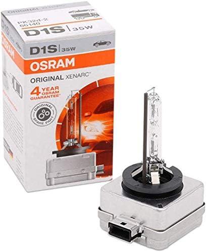 OSRAM XENARC ORIGINAL D1S HID, lámpara de xenón, lámpara de descarga, calidad de equipamiento original (OEM), 66140, estuche (1 unidad)