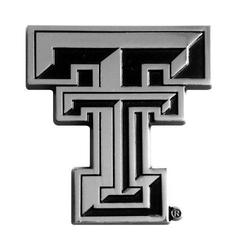 FANMATS  14899  NCAA Texas Tech University Red Raiders Chrome Team Emblem by Fanmats