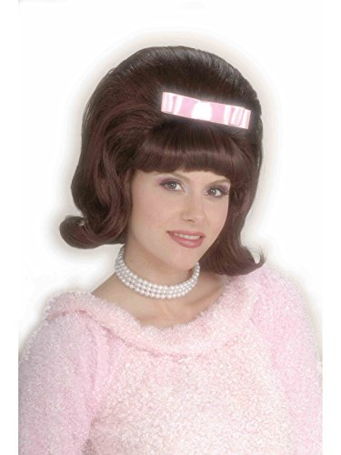 Forum Novelties Women's Flirting with The 50's Bouffant Costume Wig, Brown, One Size -