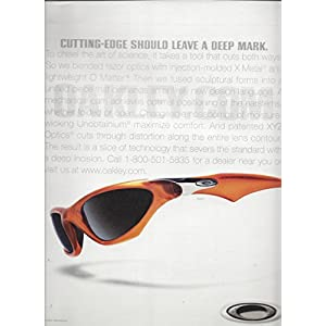 LargePRINT AD For 2001 Oakley Sunglasses Cutting Edge Shouldn't Leave A Deep...