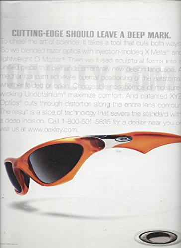 LargePRINT AD For 2001 Oakley Sunglasses Cutting Edge Shouldn't Leave A - Sunglasses Sale For Oakleys
