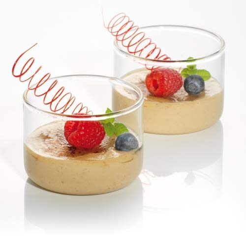 Simax Glassware Mini Glass Bowls | For Food Prep, Condiments, Desserts, Candy and More, Durable Borosilicate Glass, Oven, Microwave, Freezer and Dishwasher Safe, Set Includes Four 4.8 Ounce Dishes