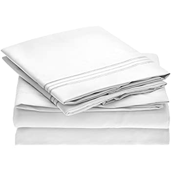 Harmony Linens Bed Sheet Set   1800 Double Brushed Microfiber Bedding    Deep Pocket, Hypoallergenic
