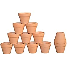 "My Urban Crafts Miniature Terracotta Clay Pots - Great For Succulent & Cactus Nursery Planter, Crafts, Wedding and Party Favors 1.57"" Height x 2"" Width (Set of 12)"