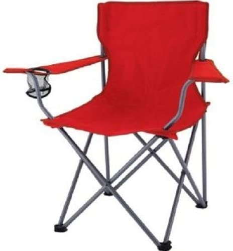 Ozark Trail Camping Quick Folding Chair with Carrying Bag, Red