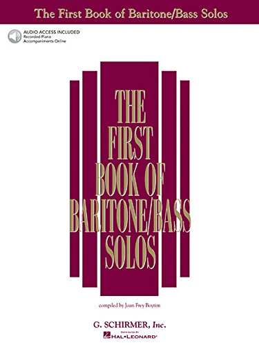 The First Book of Baritone/Bass Solos: Book/Online Audio...