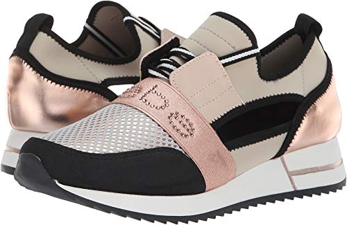 (bebe Women's Brienna Rose Gold/Grey Multi 7 B US B (M))