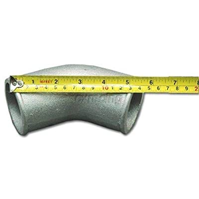 "2.5"" Cast Aluminum Elbow 45 Degree Pipe Turbo Intercooler Universal: Automotive"