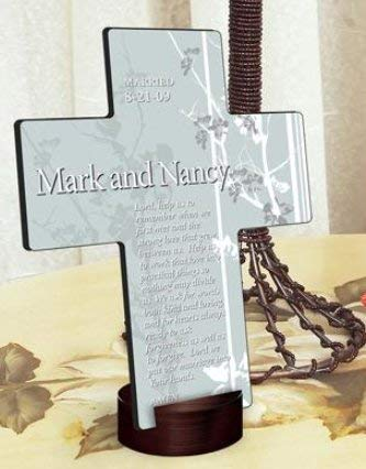 SKB Family Personalized Faith and Flower Cross Home Decor Delicate by SKB-family