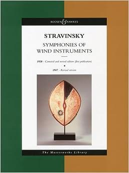 ストラヴィンスキ : 管楽器のためのシンフォニー集/ブージー & ホークス社/大型スコア