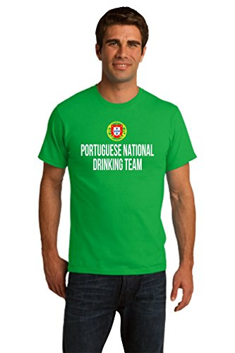 PORTUGUESE NATIONAL DRINKING TEAM Unisex T-shirt / Funny Portugal Beer Tee