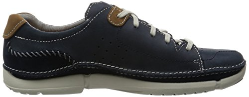 Clarks Trikeyon Mix, Scarpe Stringate Uomo Blu (Blue Leather)