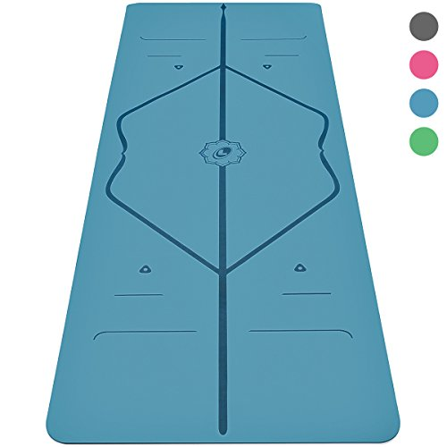 Liforme Yoga Mat – The World's Best Eco-Friendly, Non Slip Yoga Mat with The Original Unique Alignment Marker System. Biodegradable Mat Made with Natural Rubber & A Warrior-Like Grip (Blue)