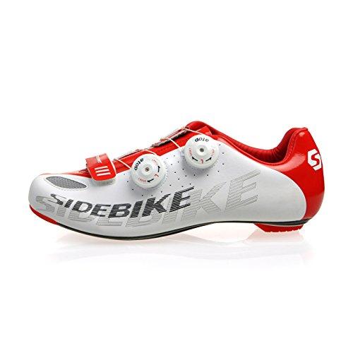 Chaussures Vélo de VTT / Route Homme Femmo (SD-002 Route Blanc et Rouge, EU40)