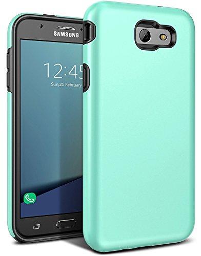 Galaxy J7 V Case,Galaxy J7 Prime Case,J7 Perx Case,J7V Case,J7 Sky Pro Case,Galaxy Halo Case, All Around Protection Hybrid Dual Layer Armor Phone Case Cover for Samsung Galaxy J7 2017, Sky Blue