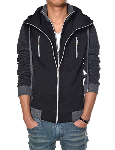 TheLees Men's Slim Fit Hood Cotton Jacket